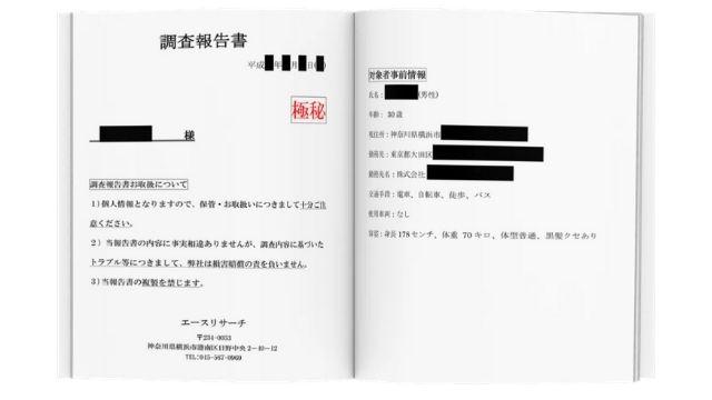 エースリサーチ探偵事務所調査報告書