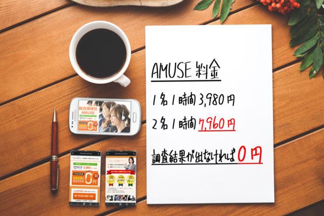 総合探偵社AMUSE料金